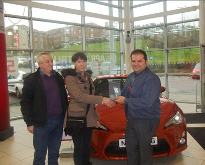 SLM Toyota Staff - receive recognition for Toyota's Learning